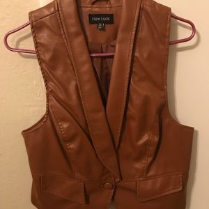 Leather Like Vest (X-L in Ladies)